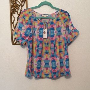 Tops - Cuddy Studios Felicity Kite Pattern Colorful Top